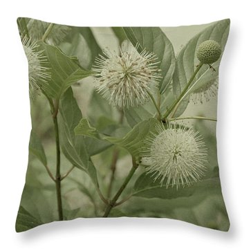 Button Bush Throw Pillow