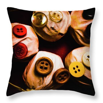 Button Sack Lollypop Monsters Throw Pillow