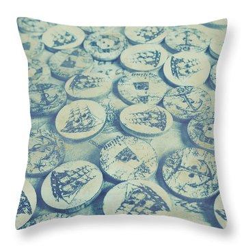 Button Seas Throw Pillow