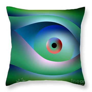 Button To Fantasy Throw Pillow by Leo Symon