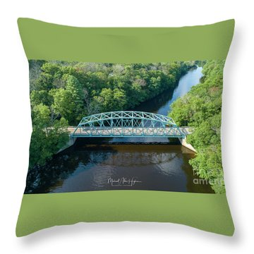 Throw Pillow featuring the photograph Butts Bridge Summertime by Michael Hughes