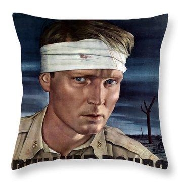 Buy War Bonds Throw Pillow