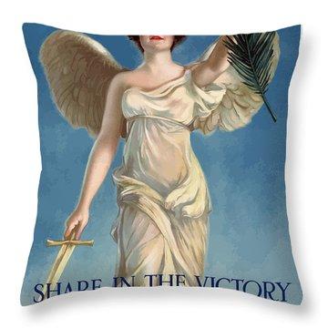 Buy War Savings Stamps Throw Pillow