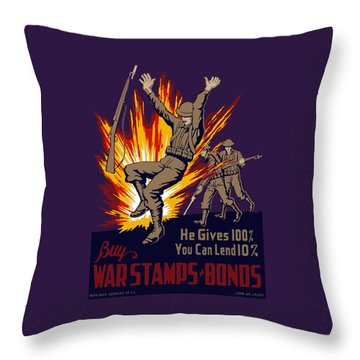 Buy War Stamps And Bonds Throw Pillow