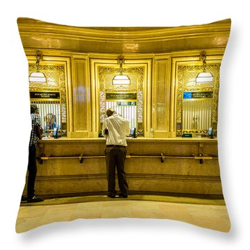 Throw Pillow featuring the photograph Buying A Ticket by M G Whittingham
