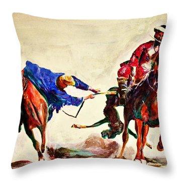 Buzkashi, A Power Game Throw Pillow