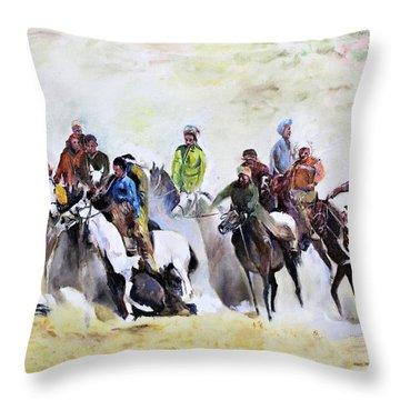 Buzkashi Sport Throw Pillow