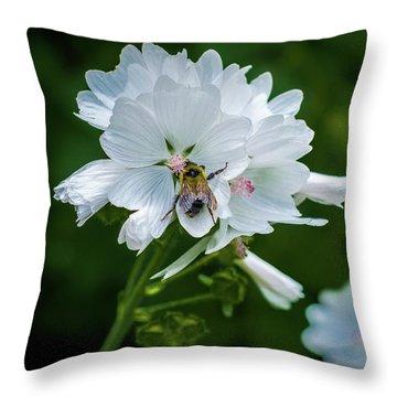 Buzz, Buzz, Buzz Went The  Bumble-bee Throw Pillow
