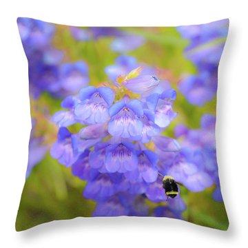 Buzzing Around Throw Pillow