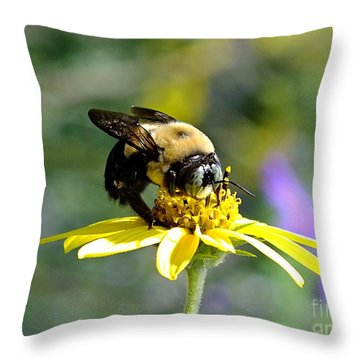 Buzzing By Throw Pillow
