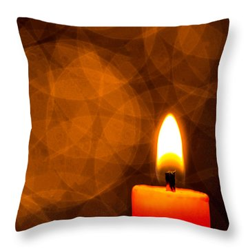 By Candle Light Throw Pillow