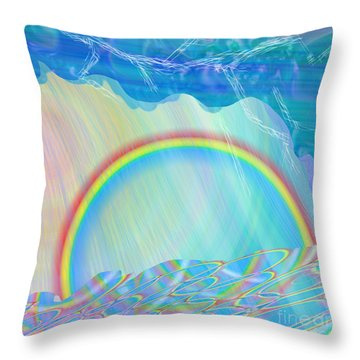 By Day And By Rain Throw Pillow