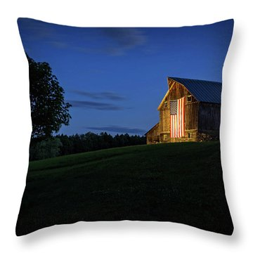 Old Glory By Dusks Early Light Throw Pillow