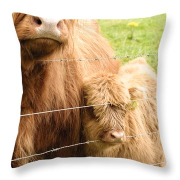 Throw Pillow featuring the photograph By Mama's Side by Christi Kraft