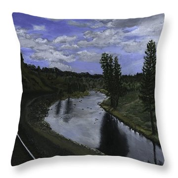 By Rail Throw Pillow