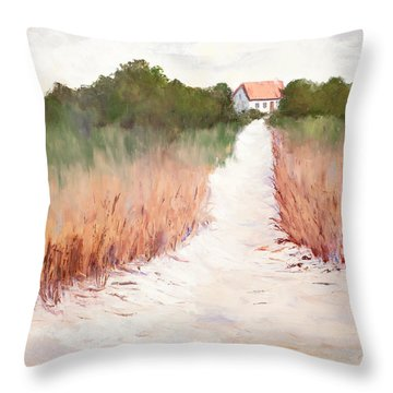 By The Beautiful Sea Throw Pillow