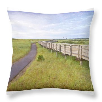 By The Boardwalk - Long Beach Washington Throw Pillow