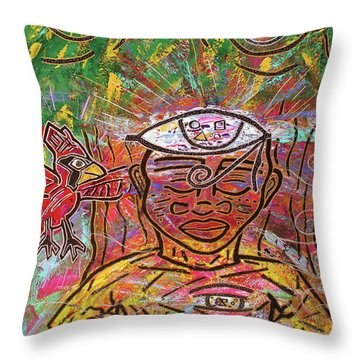 By The Bodhi Tree Throw Pillow