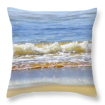 By The Coral Sea Throw Pillow by Holly Kempe
