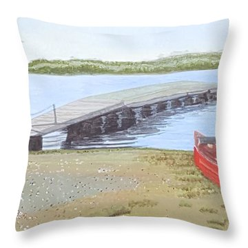 By The Lake Throw Pillow by Joanne Perkins
