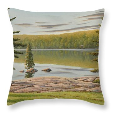 By The Lakeside Throw Pillow