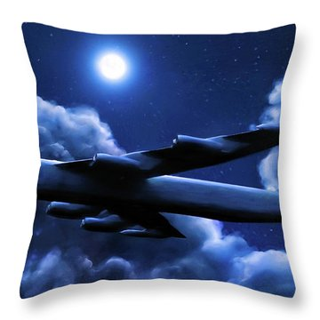 By The Light Of The Blue Moon Throw Pillow