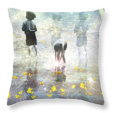 By The Light Of The Magical Moon Throw Pillow