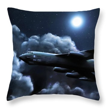 Throw Pillow featuring the painting By The Light Of The Silvery Moon by Dave Luebbert