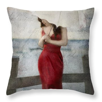 By The Northport Sea Throw Pillow