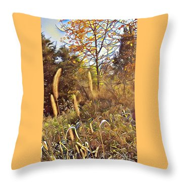 By The Railroad Tracks Throw Pillow