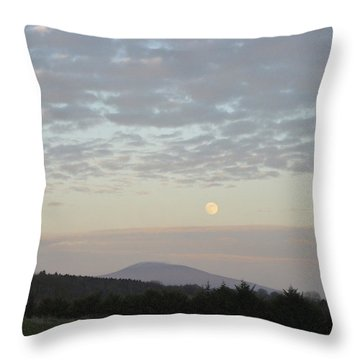 By The Rising Of The Moon Throw Pillow by Suzanne Oesterling