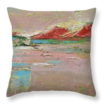 By The River Throw Pillow by Becky Kim