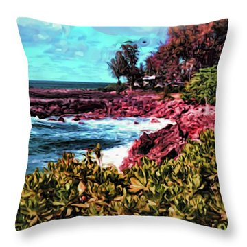 By The Sea 18 Throw Pillow