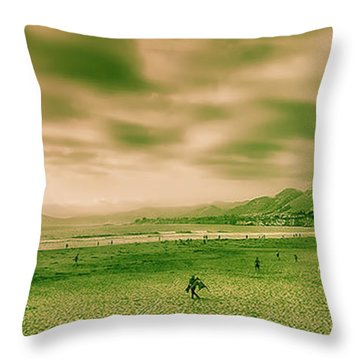 Throw Pillow featuring the photograph By The Sea 2 by Joseph Hollingsworth