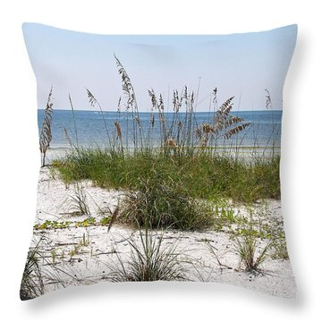 Throw Pillow featuring the photograph By The Sea by Carol  Bradley