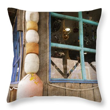Throw Pillow featuring the photograph By The Sea by Fran Riley
