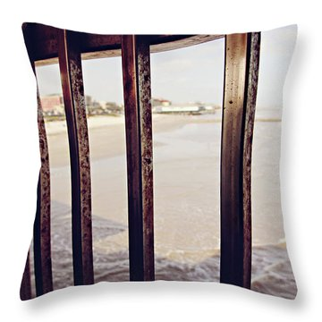 Throw Pillow featuring the photograph By The Sea by Trish Mistric