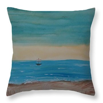 By The Seaside, By The Beautiful Sea Throw Pillow