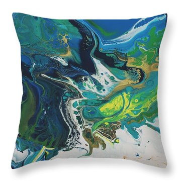 By The Seaside Throw Pillow