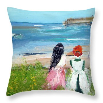 By The Shores By Colleen Ranney Throw Pillow