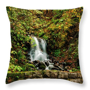 By The Side Of The Road Throw Pillow
