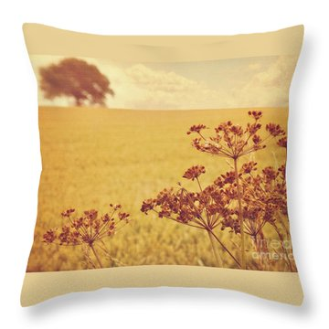 Throw Pillow featuring the photograph By The Side Of The Wheat Field by Lyn Randle