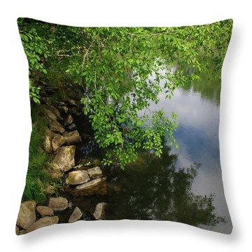 Throw Pillow featuring the photograph By The Still Waters by Tikvah's Hope