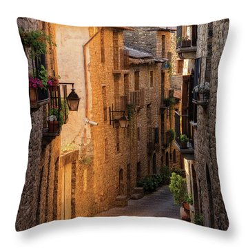 By The Town Of Ainsa In The Province Of Huesca Throw Pillow