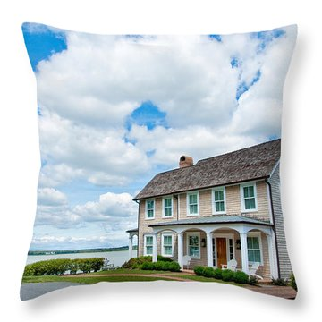 Throw Pillow featuring the photograph By The Water In Oxford Md by Charles Kraus