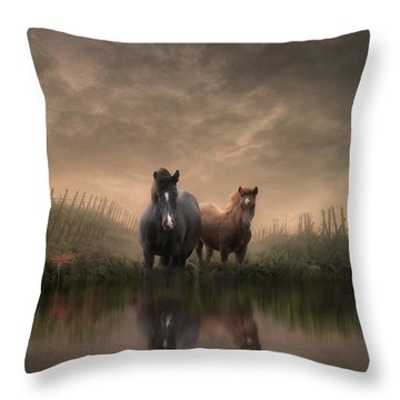 By The Water's Edge Throw Pillow