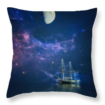 By Way Of The Moon And Stars Throw Pillow