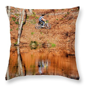 Bycyle Throw Pillow