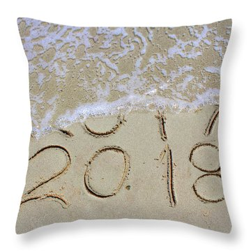 Bye Bye 2017 Welcome2018 Throw Pillow
