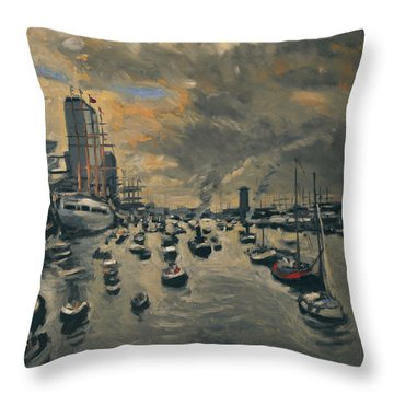 Bye Bye Sail Amsterdam Throw Pillow
